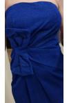 Vestido ajustado palabra de honor con tela con brillos